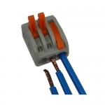 Клемма 222-413 на 3 провода 0,08-4мм. 32А WAGO