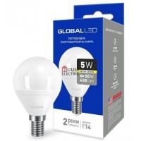 Лампа светодиодная GBL -143 G45  5W 3000K E14 Global