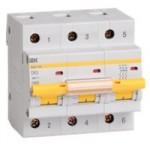 Автоматический выключатель ВА 47-100 3Р 100А 10кА 380В ИЕК
